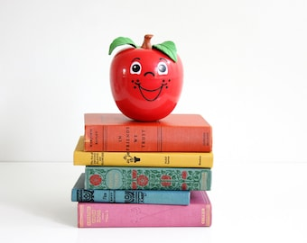Vintage 1972 Fisher-Price Happy Apple Chime Toy