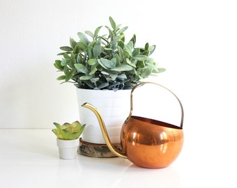 Vintage Copper Watering Can by Coppercraft Guild / Mid Century Copper and Brass Watering Can