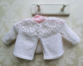 Knitting Kit for Baby Cardigan, Meredith Baby Cardigan, Knitted Cardigan, Baby