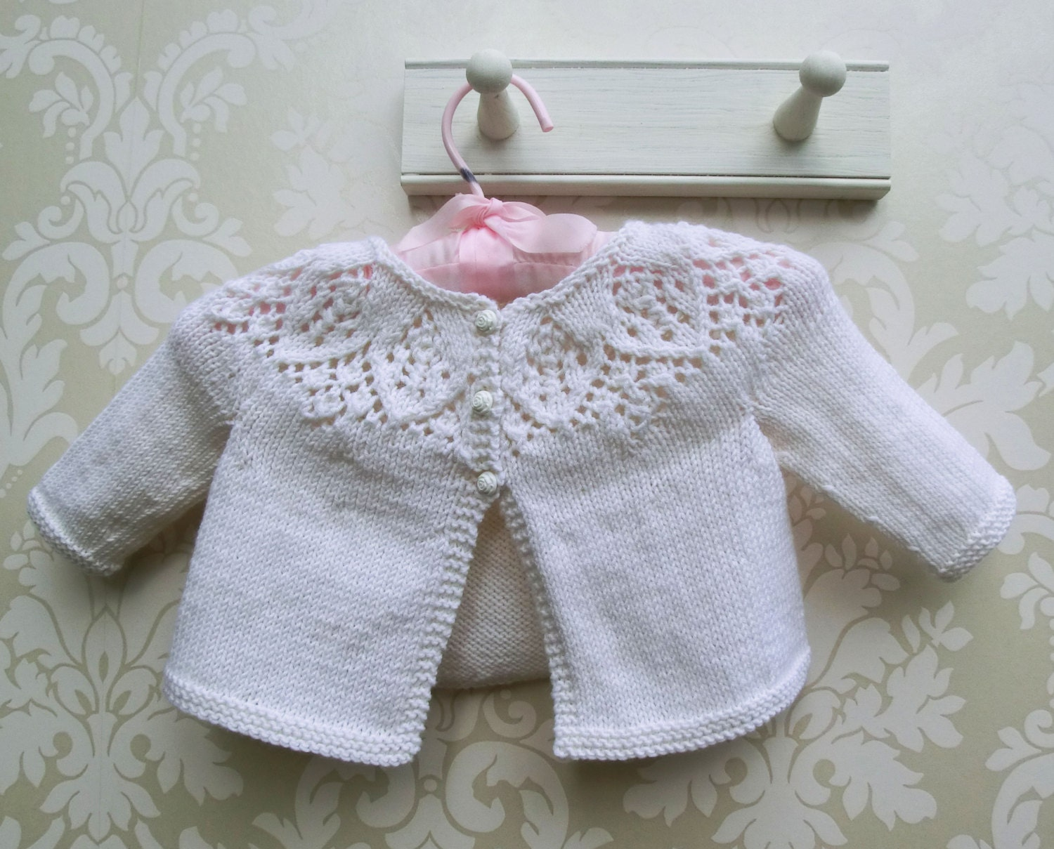 Knitting Patterns Kits : Knitting Kit for Baby Cardigan Meredith Baby Cardigan