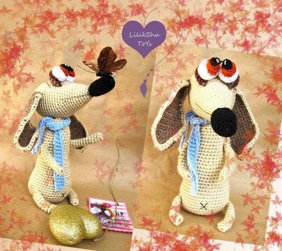 Crochet toy Amigurumi pattern -  Dachshund