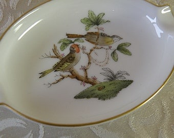 Hand Painted HEREND Tray with BIRDS