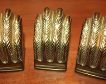 Vintage Brass Claw Foot Table Leg Caps, Set of 3