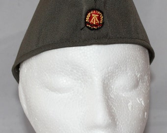 Vintage East Germany Garrison Hat with Insignia, 1970's to 1980's