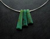 Necklace - Aventurine = modern, unique, art to wear, ooak, contemporary - by Schneider Gallery