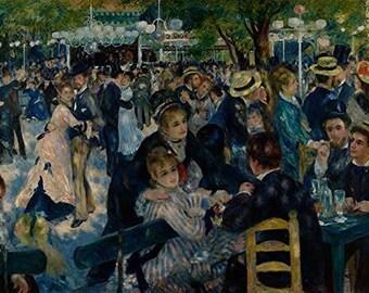 """Renoir """"Dance at Le Moulin de la Galette"""" Laser Cut Wooden Jigsaw Puzzle"""