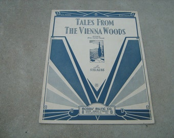 1939  vintage sheet music (  Tales from the Vienna woods  )
