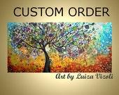 Reserved Listing Custom Order Original Painting Olive Tree for Kim