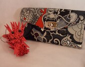 Necessary Clutch Wallet-Chinese Dragon Wallet-Smartphone Wallet-Accordian Style Clutch Wallet-Multi-Purpose Wallet