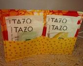 Ladybug Tea Wallet, Red and Yellow Tea Wallet, Tea Storage, Ladybug Wallet, Emergency Tea Supply, Office Gift