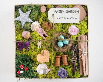 Fairy Garden Kit - Baby Flower Fairy Figurine Garden Accessories - Fairy Supply - Fairy Garden Decor - DIY Fairy House - furniture, items