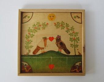 Sevi Bird Puzzle - Bride & Groom
