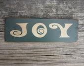 JOY - Wood Holiday Sign ON SALE