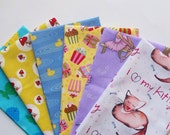 FAT QUARTER Bundle - Kids Fabric, Designer Cotton Quilt Fabric, Quilting Fabric, Fat Qtr (#72)