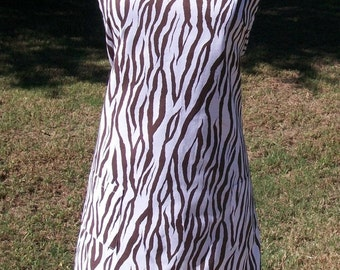 Brown Zebra Print Apron