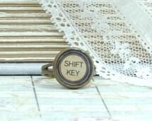Shift Key Ring Victorian Ring Typewriter Ring Writer Jewelry Typewriter Key Ring Shift Key Jewelry