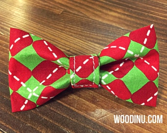 Christmas Dog Collar Bowtie - Christmas Dog Collar Bow Tie - Christmas Bow Tie - Dog Bow-Dog Bow Tie - Bow Tie -Three Sizes - Bow Tie