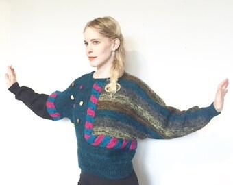 Novara pom pom batwing knit sweater