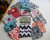 Coin Purse, Small Button Pouch, Jewelry Case, Purse Organizer, Lipstick Case, Gift Card Case, Credit Card Case, Coin Pouch