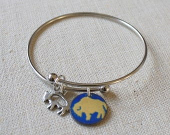 Buffalo Bangle, Buffalo Jewelry, Buffalo Sports Teams Jewelry, Buffalo Sabres Bangle, Sabres Jewelry, Buffalo NY, Bufalo Earrings