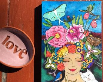 Print on Wood 5x7 : Abundance Goddess