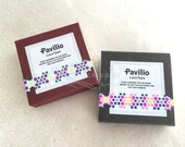 Pavilio Lace Tape - Decorative Sticker Roll -  Suite Arissamu Green / Suite Arissamu Purple - Mini