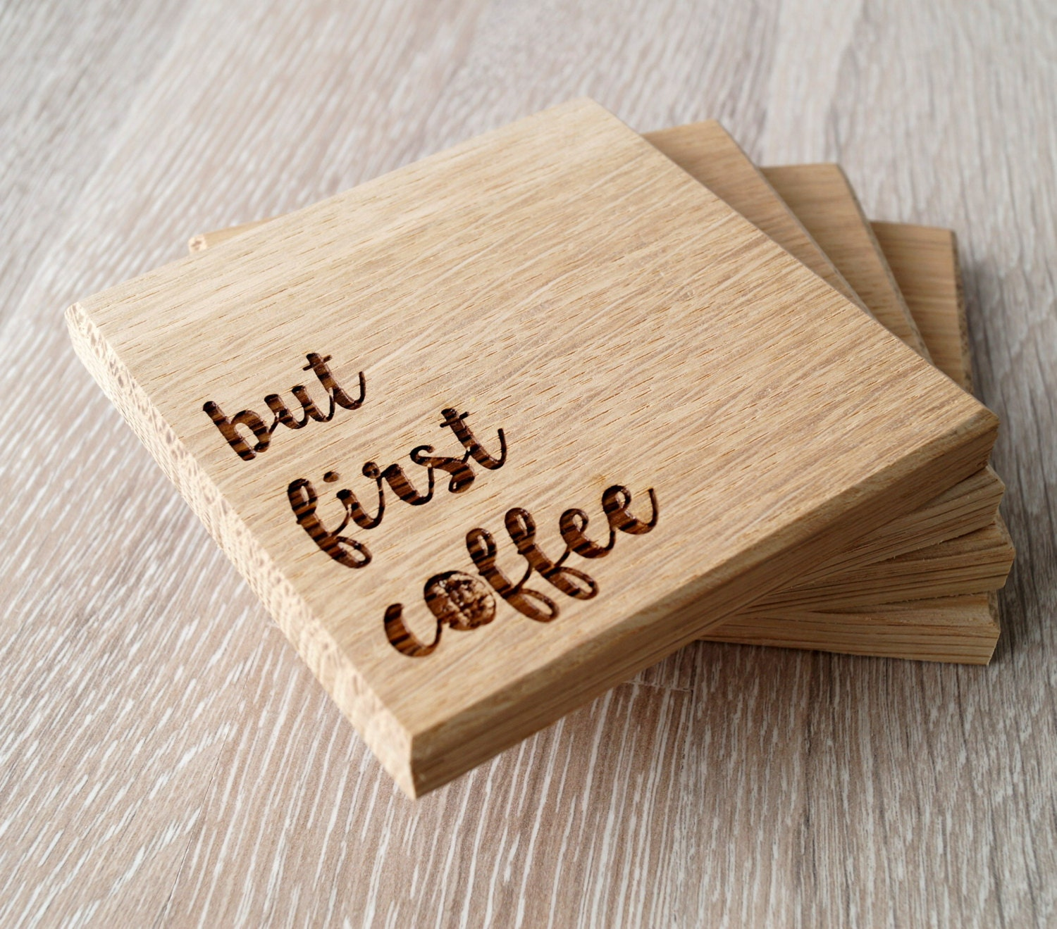 Wooden Coasters Solid Wood Drink Or Coffee Coasters Engraved