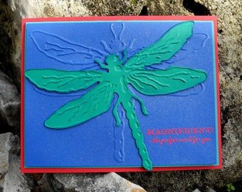 Magnificent Dragonfly All Occasion Card with Psalm 139 14