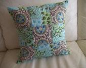 Throw Pillow Cover Boho Mod Patchwork Amy Butler Fabric 14 x 14 Pillow