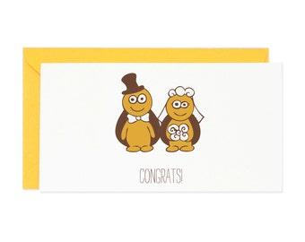 Congrats Wedding Turtles Enclosure Gift Card