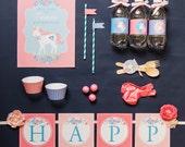Unicorn Birthday, Unicorn Party, Unicorn Theme Party Kit, Girl Birthday Theme, Unicorn Party Kit