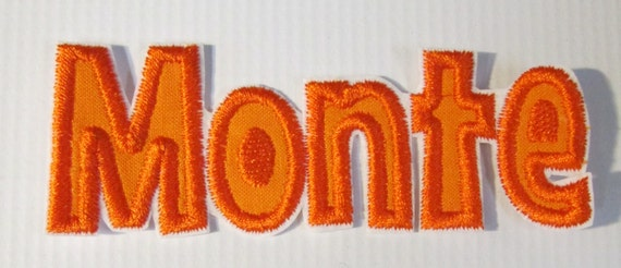 Embroidered Letters - Iron On or Sew On Custom Made Letters - *****This Listing Has Changed