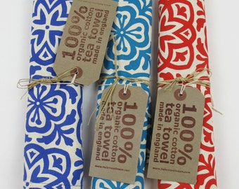 Moroccan Tile Print Tea Towel - Set of 3