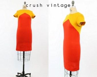 60s Dress Chevron Small / 1960s Vintage Mod Shift Dress / Melanie Dress