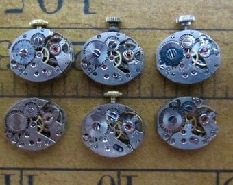 Steampunk watch parts - Vintage Antique Watch movements Steampunk - Scrapbooking W52
