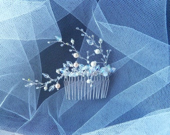 Crystal Blossoms Cluster, Bridal Wedding Hair Comb. Ready to ship.
