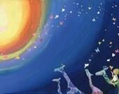 "Original painting ""The Giraffe Parade"""