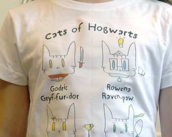 Cats of Hogwarts Kids Tee Shirt