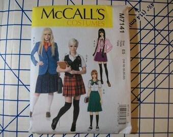 McCalls 7141 Misses Japanes style scholl uniform Anime costume multiple styles sizes 14-22