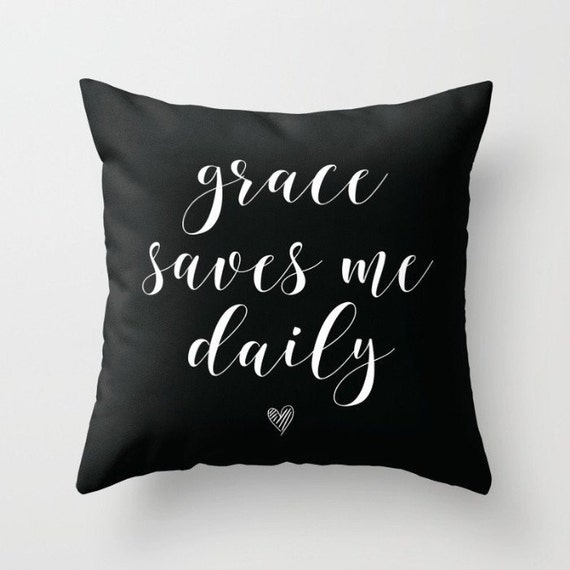 Grace Pillow w/ Insert | Throw Pillow | Pillow Case | Pillow Cover | Office Decor |  Home Decor | Statement Pillow