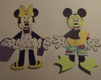 Mickey and Minnie swimming set die cuts