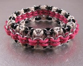 Chain Link Bracelet Kit - Hot Pink & Zebra (supplies and tutorial)