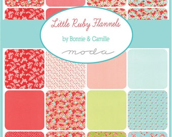 SUMMER SALE - In Stock - FLANNEL Charm Pack - Little Ruby - Bonnie and Camille for Moda Fabrics