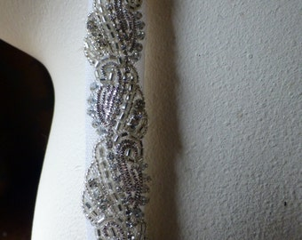 "18"" RhinestoneTrim for Straps, Bridal Sashes, Flapper Headbands, Jewelry or Costume Design"