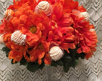 Cake Pop Silk Flower Centerpiece, Cake Pop Centerpiece