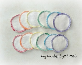 Rainbow Reusable 'Cotton Balls' - Bamboo velour/sherpa facial rounds - makeup remover pads