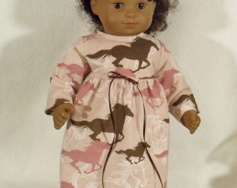 15 inch Doll Horses Nightgown