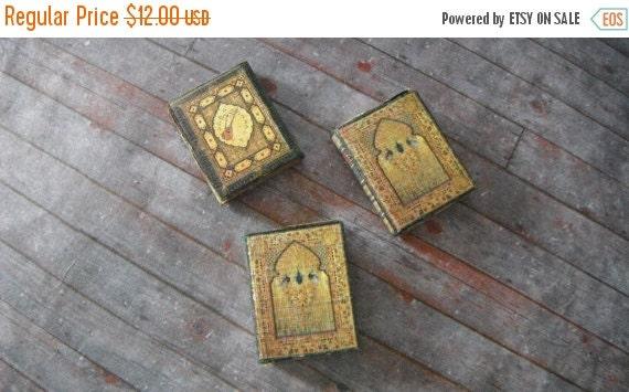 ON SALE Miniature Gilded Peacock Book Set