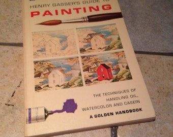 1964 Henry Glasser's Guide to Painting Book by Golden