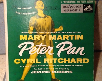 Mary Martin as Peter Pan Record Set by RCA Victor